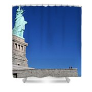 Statue And Sky Shower Curtain