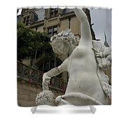 Statue At Biltmore Estate Shower Curtain