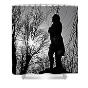 Statue At Dusk Shower Curtain