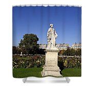 Statue At The Jardin Des Tuileries In Paris France Shower Curtain