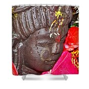 Statue At The Vishwanath Temple - India Shower Curtain