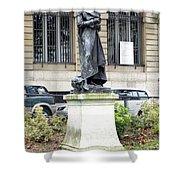 Statue In A Paris Park Shower Curtain