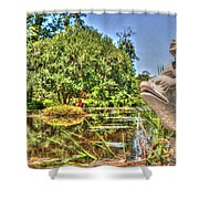 Statue In Brookgreen Gardens Shower Curtain
