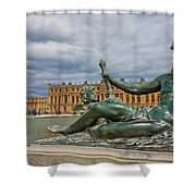 Statue In Front Of Versailles Shower Curtain