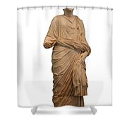 Statue Of A Roman Priest Wearing A Toga Shower Curtain