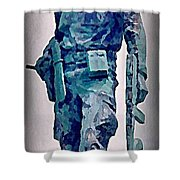 Statue Of An Old Revolutionary Cuban Shower Curtain