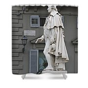 Statue Of Carlo Goldoni Shower Curtain