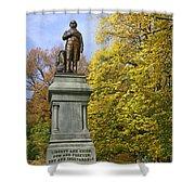 Statue Of Daniel Webster - Central Park Shower Curtain