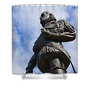 Statue Of Don Pedro Menendez De Aviles Shower Curtain