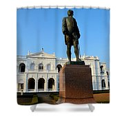 Statue Of Gregory Outside National Museum Colombo Sri Lanka Shower Curtain