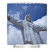 Statue Of Jesus Christ In Cusco Shower Curtain