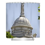 Statue Of Justice On Top Of New York City Hall Shower Curtain