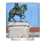 Statue Of King Jose I In Lisbon Shower Curtain