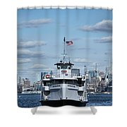 Statue Of Liberty Ferry Shower Curtain