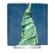 Statue Of Liberty Hdr Shower Curtain