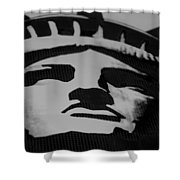 Statue Of Liberty In Black And White Shower Curtain