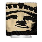 Statue Of Liberty In Dark Sepia Shower Curtain
