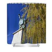 statue of liberty in Paris Shower Curtain