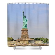Statue Of Liberty Macro View Shower Curtain