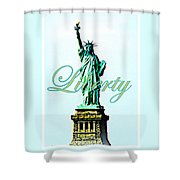Statue Of Liberty Shower Curtain by The Creative Minds Art and Photography