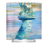 Statue Of Liberty - The Torch Shower Curtain