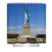 Statue Of Liberty Tourism Shower Curtain