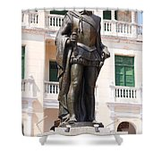 Statue Of Pedro De Heredia Shower Curtain
