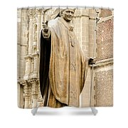 Statue Of Pope John Paul II Shower Curtain