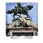 Statue Of Prince Eugene Of Savoy In Budapest Shower Curtain