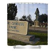 Statue Of Saint Clare Civic Center Park Shower Curtain