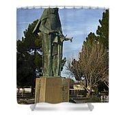 Statue Of Saint Clare Santa Clara Calfiornia Shower Curtain
