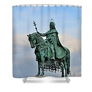 Statue Of St Stephen Hungary King Shower Curtain