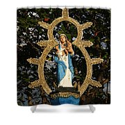 statue of the Virgin Mary in Granada Nicaragua Shower Curtain