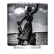 Statue St Clair Mi Shower Curtain