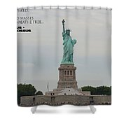 Statue With Colossus Shower Curtain