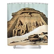 Statues Of Rameses Shower Curtain