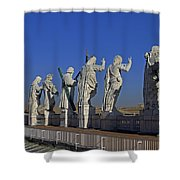 Statues On Facade Of St Peters Shower Curtain