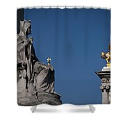 Statues On Pont Alexandre IIi Shower Curtain