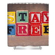 Stay Free Shower Curtain