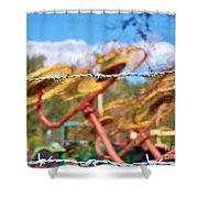 Stay Out Shower Curtain