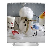 Stay Puff Snowman Shower Curtain
