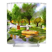 Ste Marie Du Lac In Watercolor IIb Shower Curtain