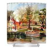 Ste. Marie Du Lac With Gazebo And Pond I Shower Curtain