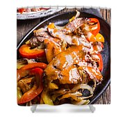 Steak Fajitas Shower Curtain
