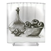 Stealing Of The Orchard Shower Curtain by Linda Simon