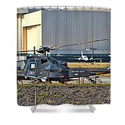 Stealth Air Attack Helicopter Shower Curtain