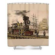 Steam And Sail Shower Curtain