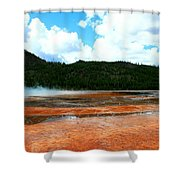 Steam And Trees Shower Curtain
