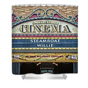 Steam Boat Willie Signage Main Street Disneyland 01 Shower Curtain