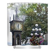 Steam Clock At Gastown In Vancouver Bc Shower Curtain